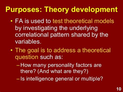 pattern variable theory exploratory factor analysis