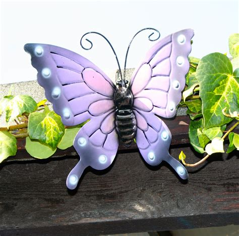 Butterflies X 4 Coloured Outdoor Large Metal Butterfly Butterfly Garden Wall