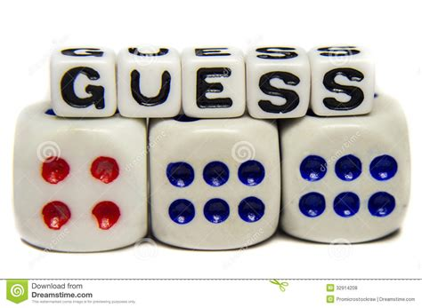 Guess 4 Time 1 Jpg guess stock photo image of dices idea