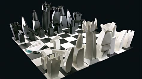 futuristic chess set frank gehry bone china chess set interior design ideas