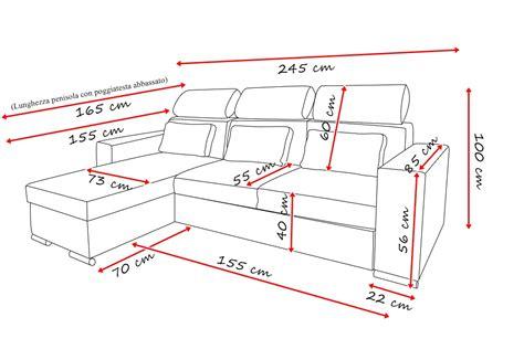 misure standard divano divano con penisola mod amaltea cosmobil24 it