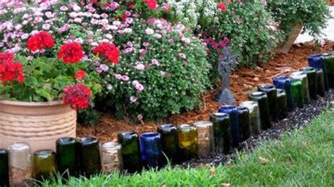 wine bottle edging   landscape  bottles step