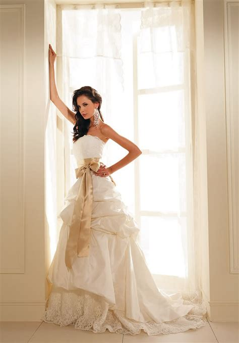 8 Absolutely Beautiful Wedding Dresses by Wedding By Designs Gold Wedding Dresses