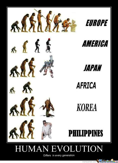Meme Evolution - human evolution by reirhart luna meme center