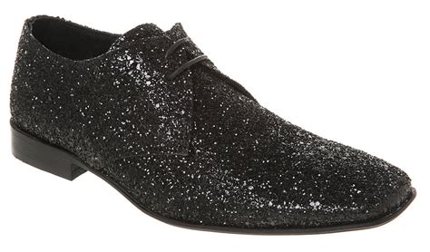 mens ask the missus arrivista lace black glitter shoes ebay