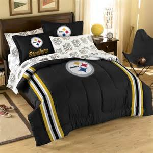 nfl pittsburgh steelers bed in bag set modern bedding