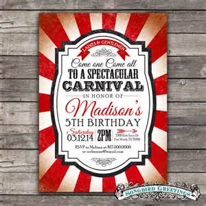 items similar to vintage carnival theme birthday