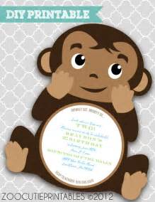 free monkey baby shower invitation templates 7 printable monkey baby shower invitations bestpickr