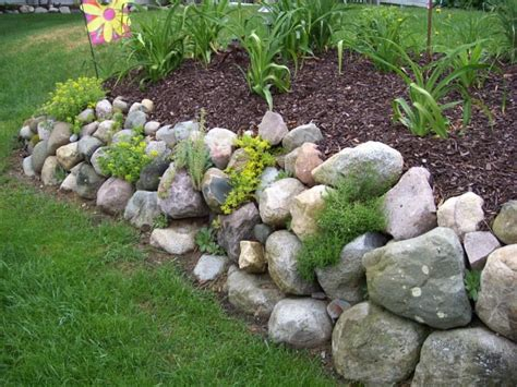 Garden Rock Wall Rock Wall Garden For The Garden