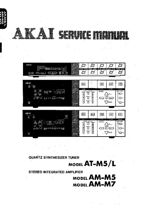 Akai Am M5 M7 At M5 Sm Service Manual Download Schematics