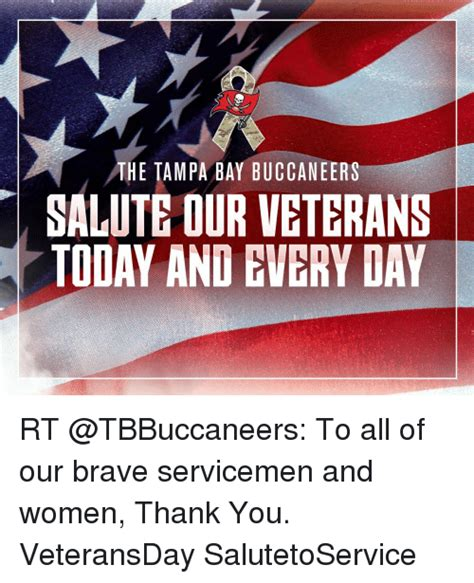 Ta Bay Buccaneers Memes - the ta bay buccaneers salute dur veterans today and