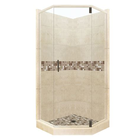 american bath factory shower systems reviews american bath factory tuscany grand hinged 32 in x 36 in x 80 in right cut neo angle shower