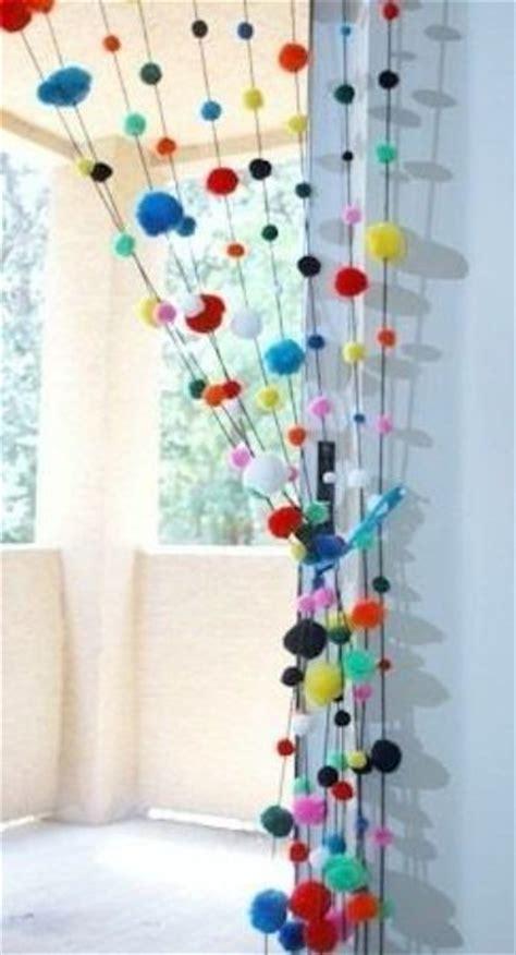 Curtains With Pom Poms Decor Best 25 Pom Pom Decorations Ideas On Pom Pom Diy Hanging Pom Poms And Tissue Paper