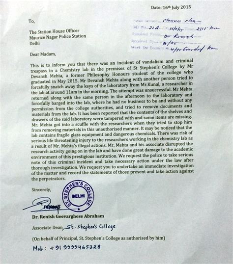 Counter Complaint Letter