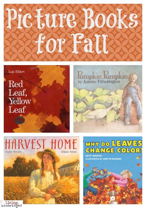 fall picture books picture books for fall living unabridged