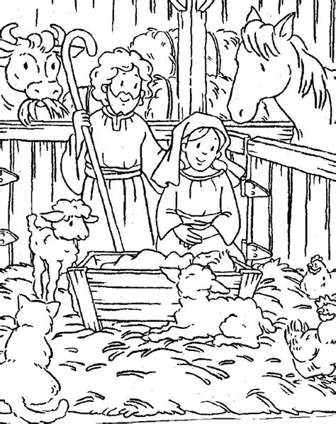 free printable nativity scene coloring search results