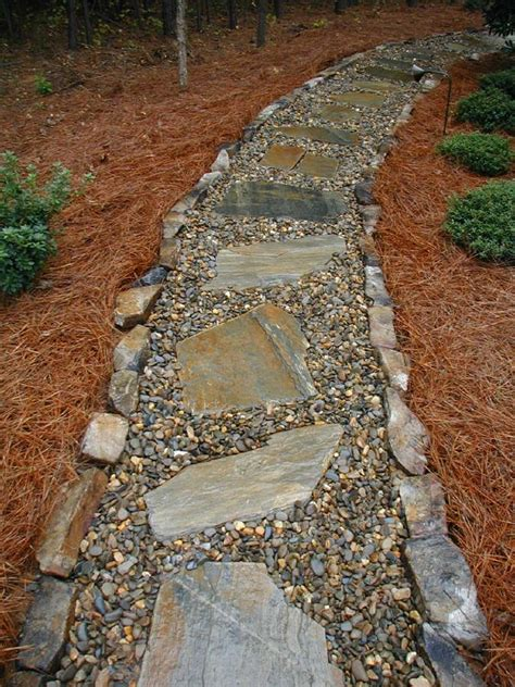 rock pathway ideas river rock walkways mohave flagstone and tennessee river