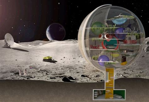 What House Is The Moon In by Moon Villa Spherical Lunar Home For Low Gravity Living