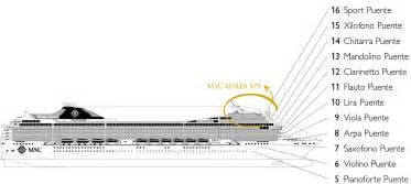 cat 233 gories et cabines du bateau msc orchestra msc