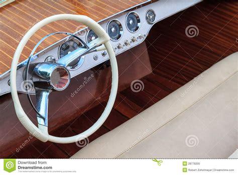 boat steering wheel leather luxury wooden motor boat steering wheel and leather