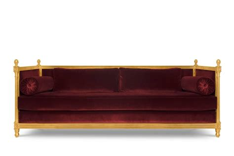 castle sofa new castle sofa with cotton velvet fabric and aged golden