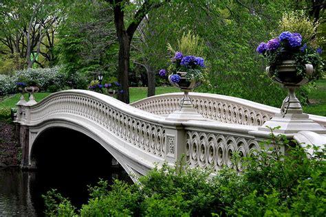 Nyc Duvet Bow Bridge Flower Pots Central Park N Y C Photograph By