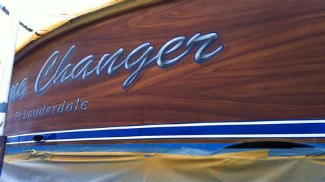 boat lettering ideas game changer ft lauderdale boat transom boats transom