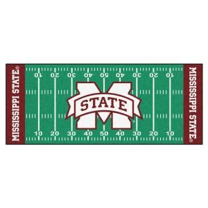 fanmats ncaa mississippi state green 2 ft 6 in