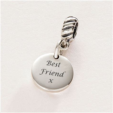 Best Friend charm Sterling Silver fits Pandora   Charming Engraving