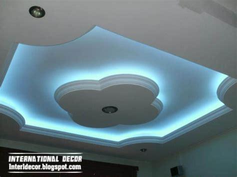 Gypsum Ceiling Design by Gypsum Ceilings Designs With Blue Ceiling Lighting Ideas