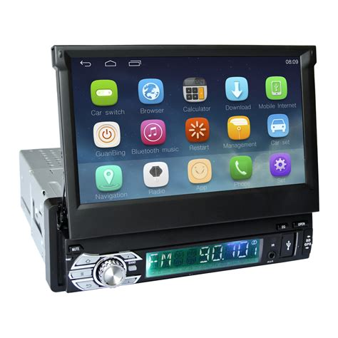 android stereo single din unit 1 din android 4 4 gps navigation folding monitor car stereo auto radio