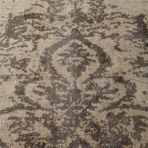 distressed wool rug distressed arabesque wool rug neutral west elm