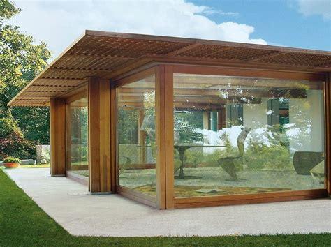 copertura veranda in legno veranda completa di struttura e copertura vetrata pavilion