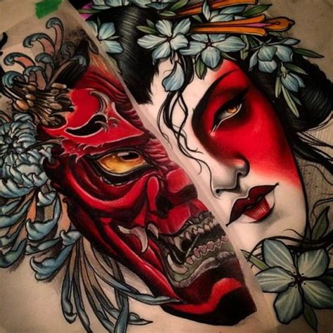 hannya mask tattoo and meaning best 25 hannya tattoo ideas on pinterest tatuagem de