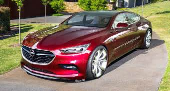 opel monza four door coupe would make a sweet merc cls rival