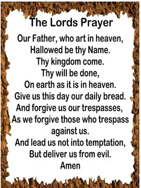 Printable Version Of Lord S Prayer | psalm 23 print out lords prayer messages sayings