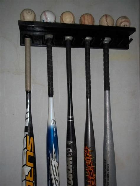 Baseball Bat Display Rack by Pine Wood Baseball Size Bat Rack Display Up 11 Bats 6 Balls Soli