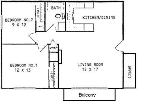 Floor Plan Template by Continental Terrace Apartments