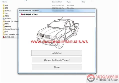 mitsubishi   service manual cd triton auto