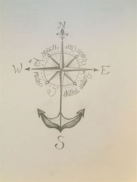 anchor compass tattoo best 25 anchor compass ideas on