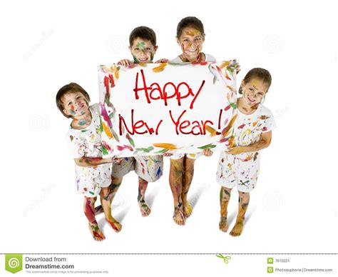 new year song child happy new year stock image image 7615021