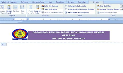 membuat kop surat dengan open office contoh undangan rapat karang taruna wongcungkup com