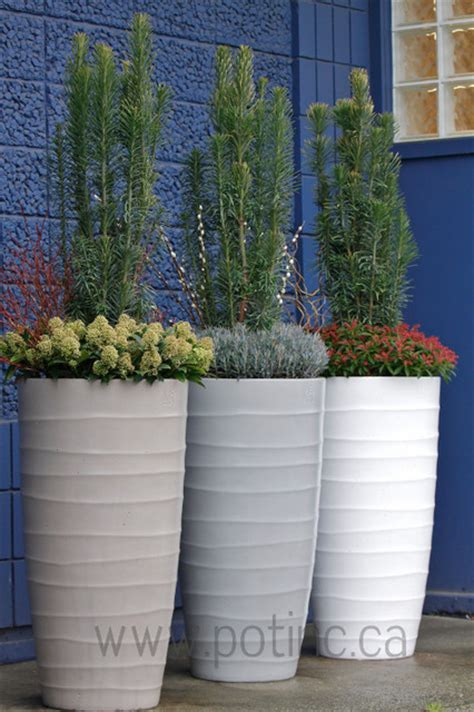 modern planters and pots bir planter contemporary outdoor pots and planters