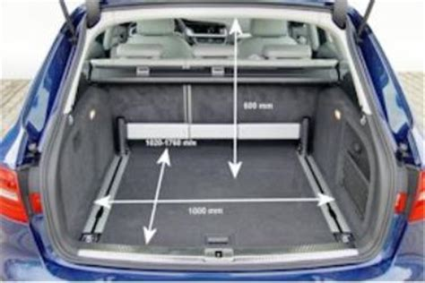 Kofferraumvolumen Audi A4 Avant adac auto test audi a4 avant 3 0 tdi ambition
