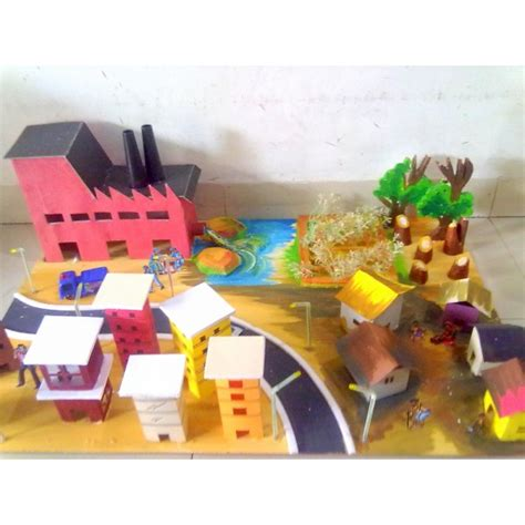 Handmade Science Models - pe 01 pollution conservation pollution environment