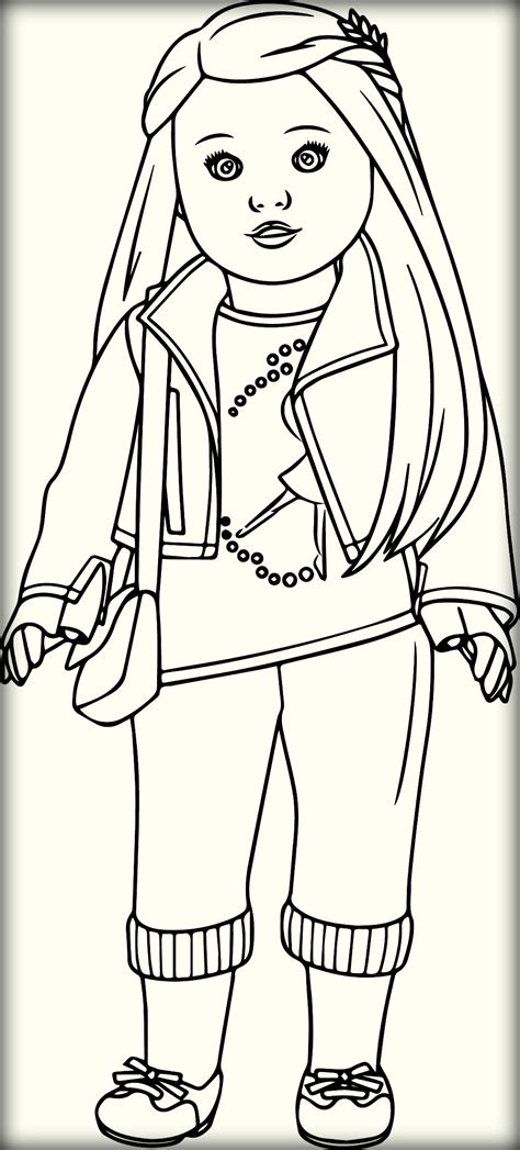 american doll coloring page american girl doll coloring pages coloringsuite com