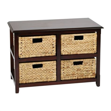 drawer storage units four drawer storage unit in espresso sbk4515a es