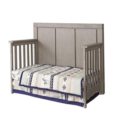 Rustic Gray Baby Furniture 4 In 1 Convertible Crib Piermont Rustic Stonington Gray