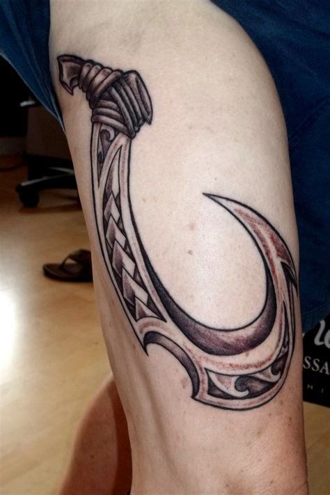 hawaiian tribal fish hook tattoo polynesian tribal hawaiian atomic