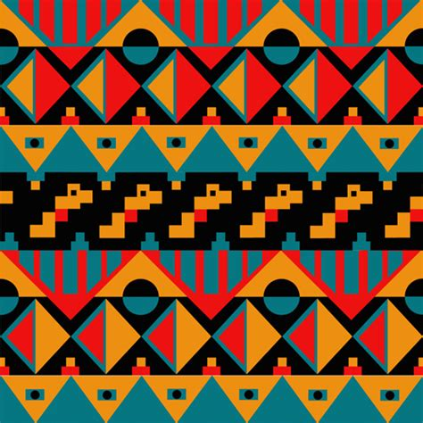 seamless tribal pattern tribal pattern seamless borders vector free vector in